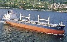 A Bulk carrier underway