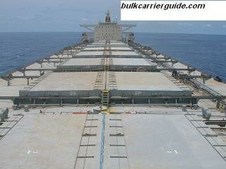 A Bulk carrier deck area