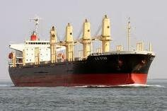 Bulk carrier underway