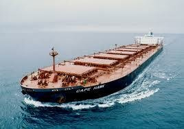 Cape size bulk carrier underway