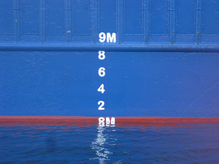 Bulk carrier draft markings