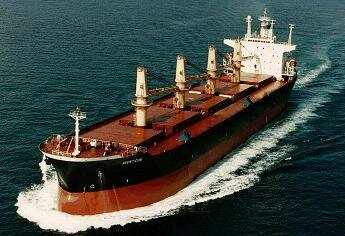 Handymax bulk carrier at sea